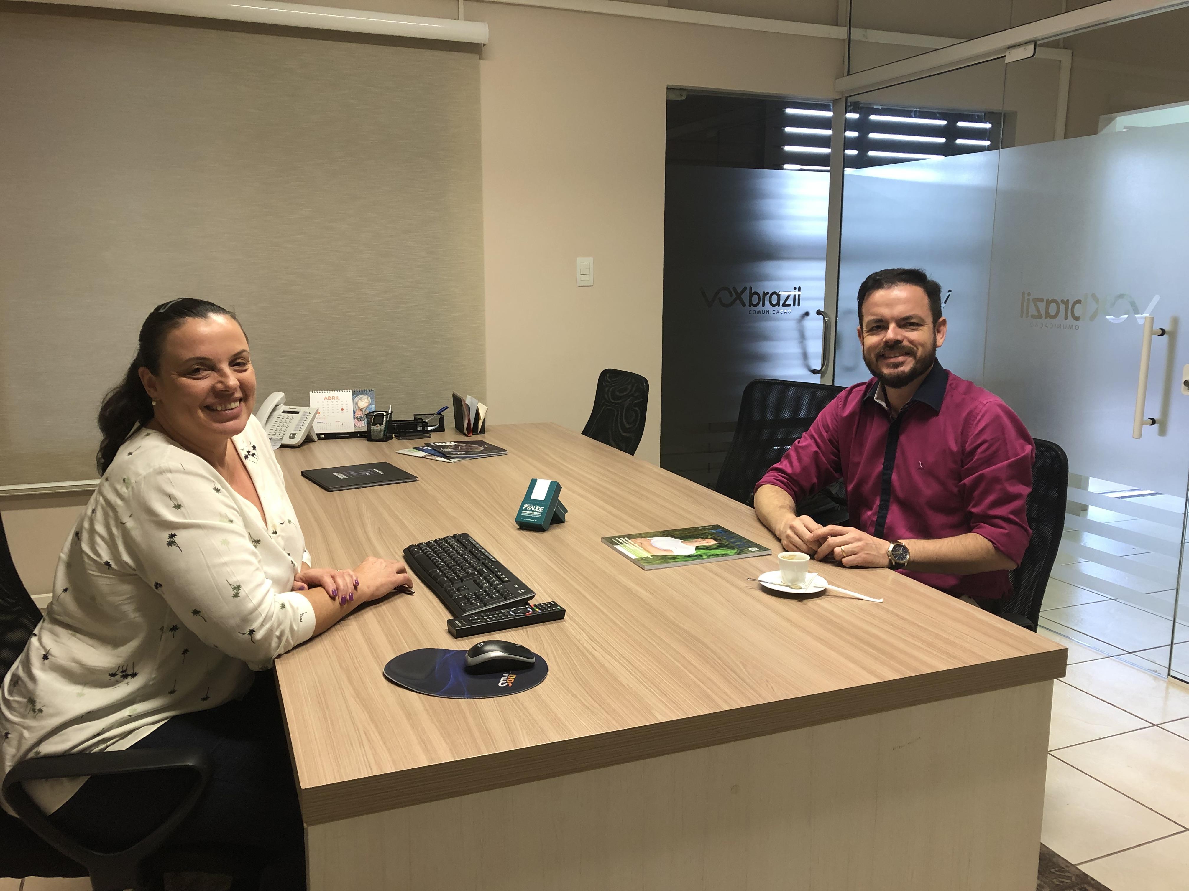 Reunião com executivo da Revista Saúde