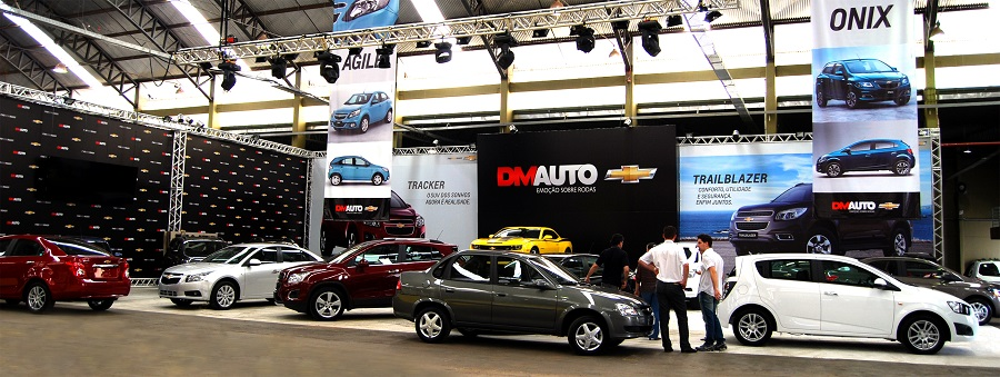 Vox Brazil Comunicação cria stand da DM Auto Chevrolet