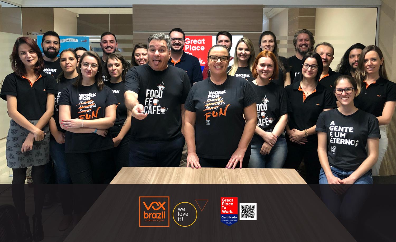 Vox Brazil é certificada como um dos melhores lugares para trabalhar